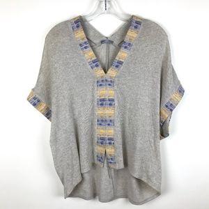 Zara Dolman Pullover V Neck Draped Sweater S